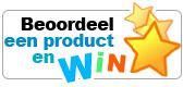 Beoordeel een product en win